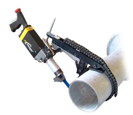 Utilização da máquina de corte pneumática